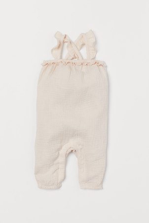 Frilled romper suit