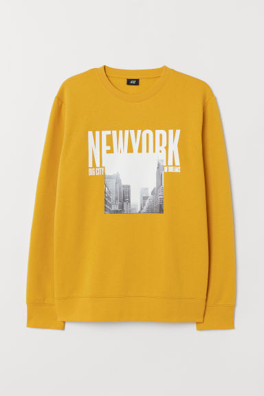 Printed sweatshirt - Yellow/New York - Men | H&M