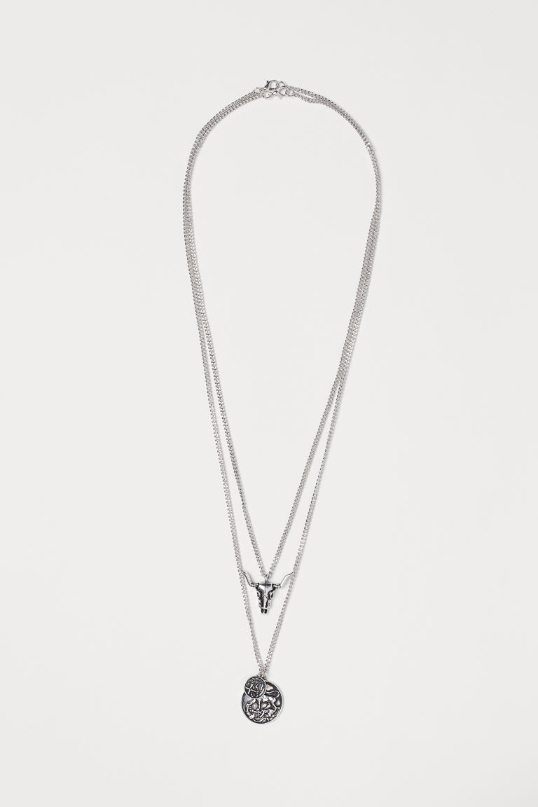 2-pack Necklaces with Pendants - Silver-colored - Men | H&M CA