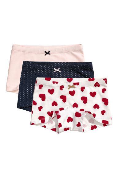3-pack boxer briefs - Dark blue/Spotted - Kids | H&M