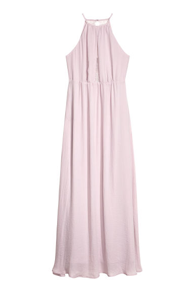 Long dress with a lace back - Light heather purple - Ladies | H&M