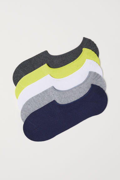 5-pack shaftless socks - Dark blue/Multicoloured - Men | H&M CN