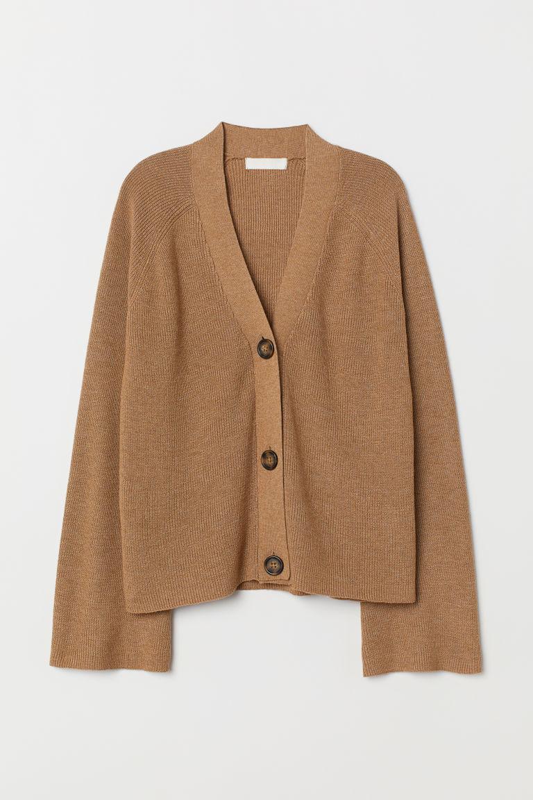 wardrobe essentials camel cardigan