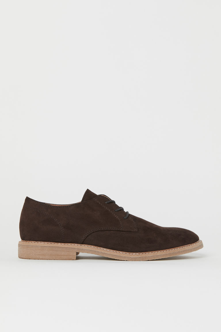Derby Shoes - Dark brown - Men | H&M US