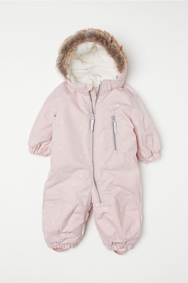 203bf186c Padded Snowsuit - Light pink/hearts - Kids | H&M ...