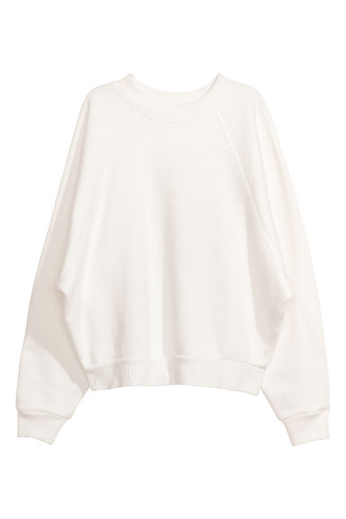 Oversized sweatshirt - White - Ladies | H&M