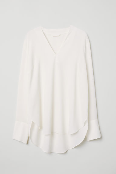 V-neck blouse - White - Ladies | H&M IN