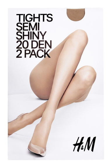 H&M+ 2-pack 20 denier tights - Light amber - Ladies | H&M