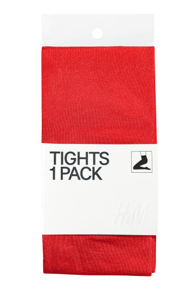 Opaque tights - Bright red - Ladies | H&M