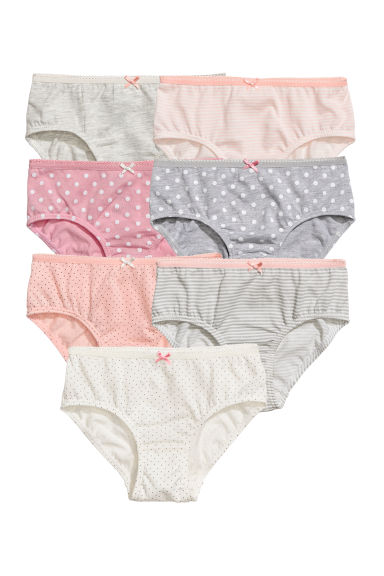 7-pack cotton briefs - Light grey - Kids | H&M