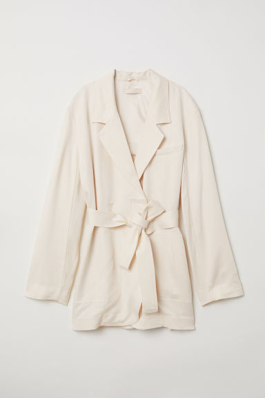 Giacca misto lyocell - Crema - DONNA | H&M IT