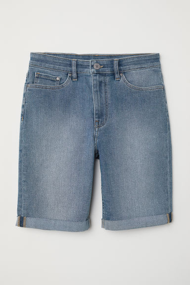 Short en jean - Bleu denim clair -  | H&M BE