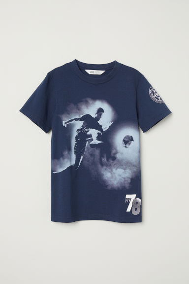 T-shirt con stampa - Blu scuro -  | H&M IT