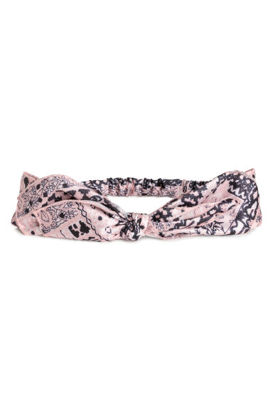 Satin hairband - Pink/Patterned -  | H&M CN