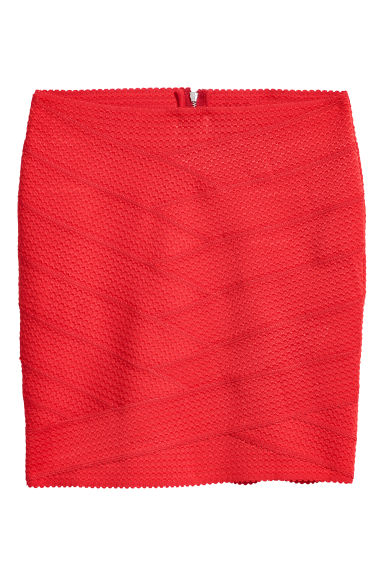 Textured skirt - Red - Ladies | H&M CN