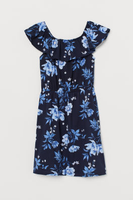 dc51f4eb2f60 Vzorované džersejové šaty