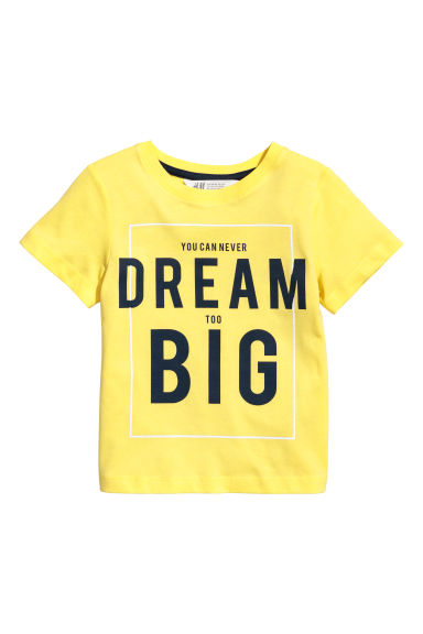 T-shirt con stampa - Giallo -  | H&M IT
