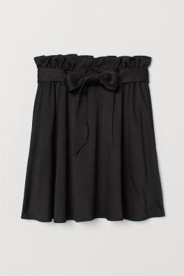 Black Skirt With Tight Print H M