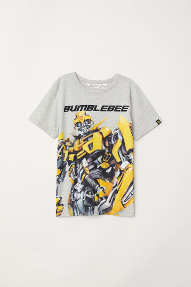 T-shirt con stampa - Grigio mélange/Transformers -  | H&M CH