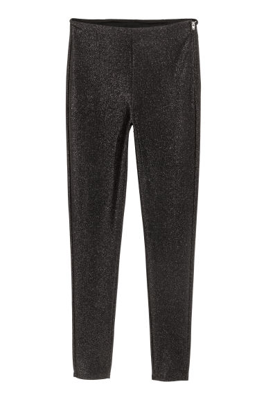 Glittery trousers - Black/Glittery - Ladies | H&M IE