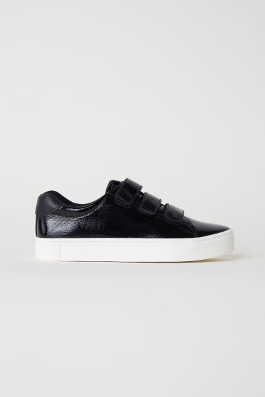 Patent leather trainers - Black - Ladies | H&M GB