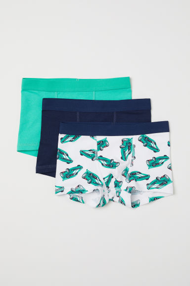 3-pack boxer shorts - Green/Cars - Kids | H&M