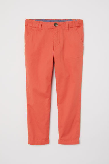 Cotton chinos - Rust red - Kids | H&M CN