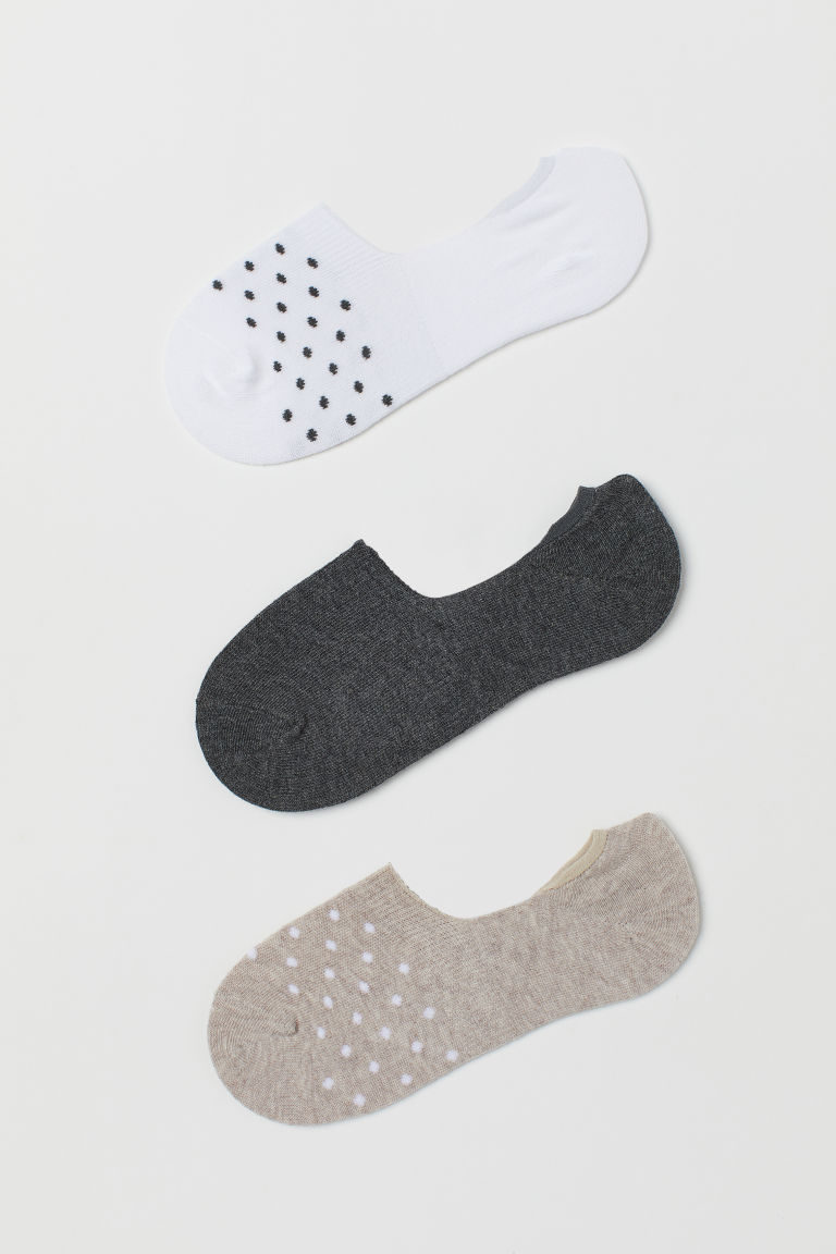 3-pack liner socks - Mole/Spotted - Ladies | H&M CN