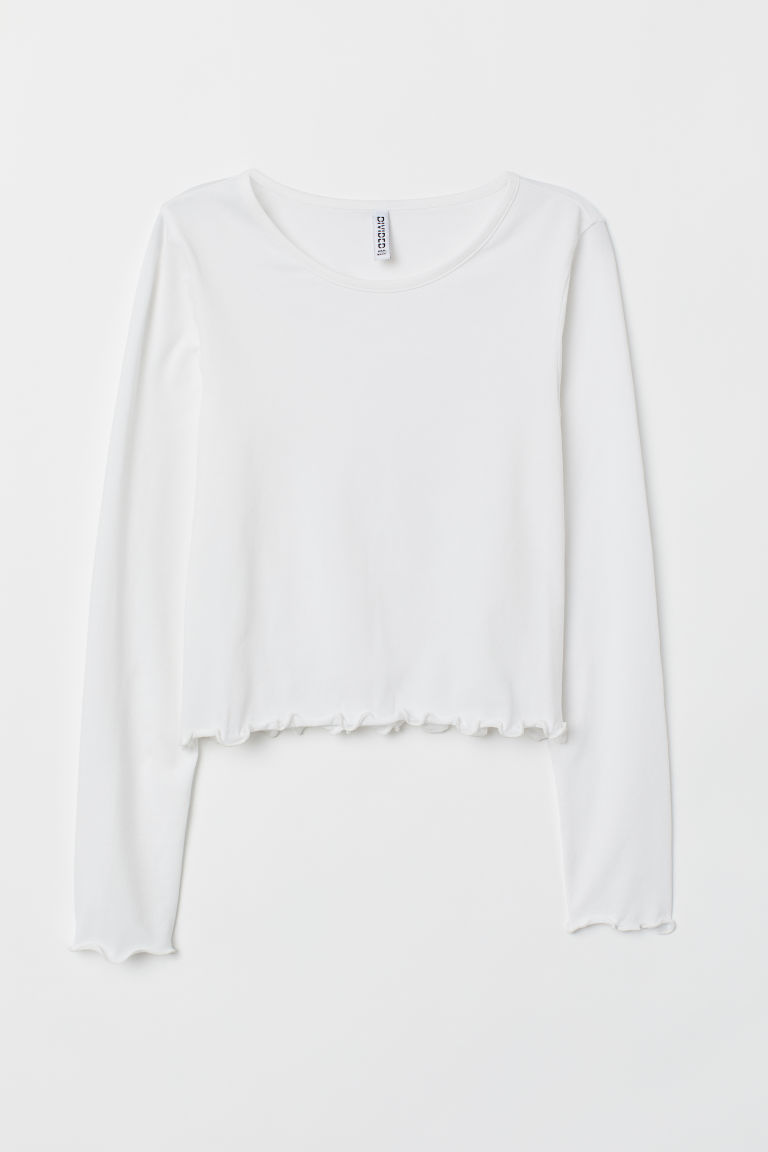 Jersey Top - White -  | H&M US