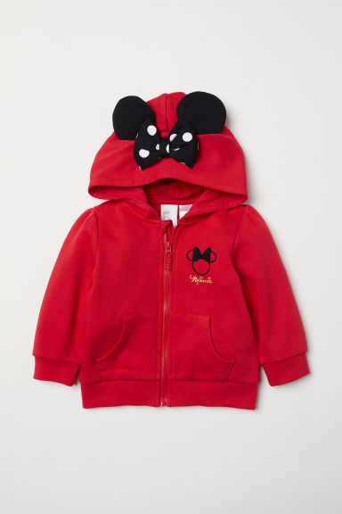 Hooded jacket with ears - Red/Minnie Mouse - Kids | H&M