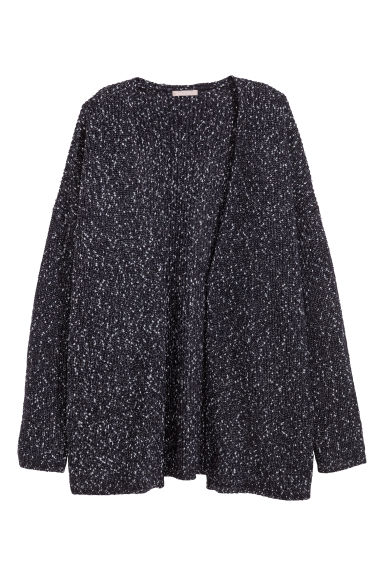H&M+ Knitted cardigan - Black/Glittery - Ladies | H&M