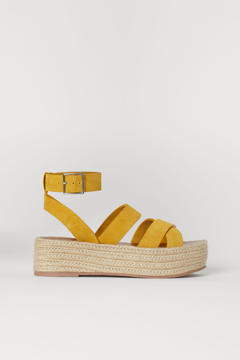 Plateausandalen - Gelb - Ladies | H&M DE
