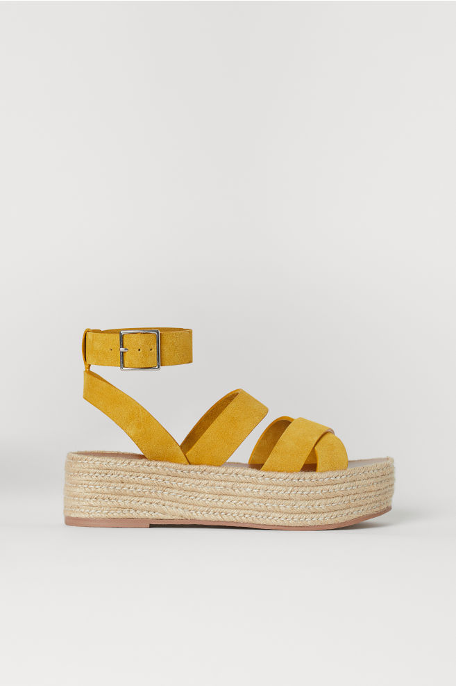 c48a1048471 Platform sandals - Yellow - Ladies