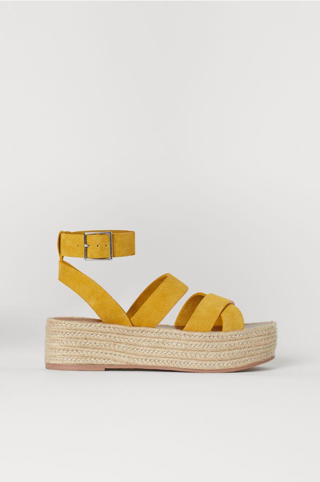 b0626561e7 Platform Sandals - Yellow - Ladies | H&M ...