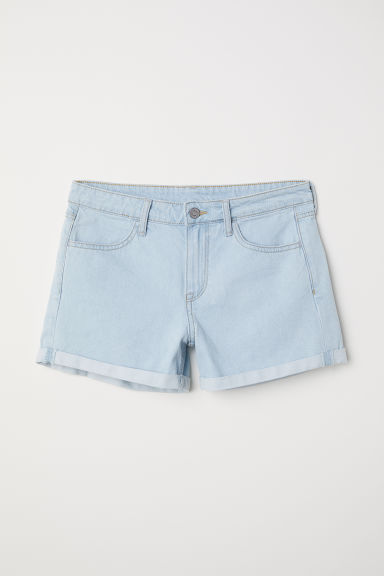 Denim short - Licht denimblauw -  | H&M NL