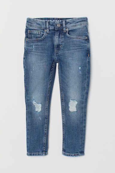 Superstretch Skinny Fit Jeans - Denimblauw - KINDEREN | H&M BE
