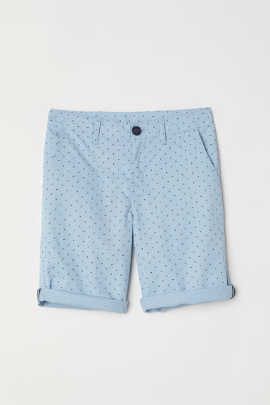 Chino shorts - Light blue/Patterned -  | H&M CN