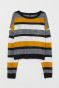 Mustard yellow/striped
