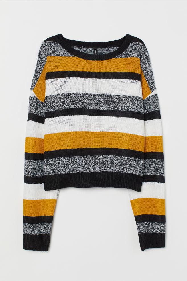 Pullover in maglia - Giallo senape/righe - DONNA | H&M IT 4