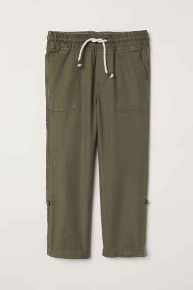 Pantaloni pull-on - Verde kaki scuro - BAMBINO | H&M IT