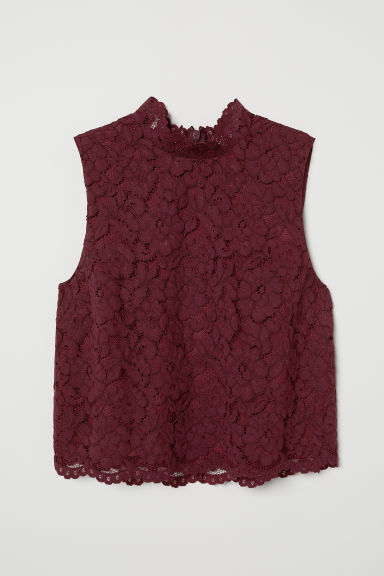Top in pizzo - Bordeaux - DONNA | H&M IT