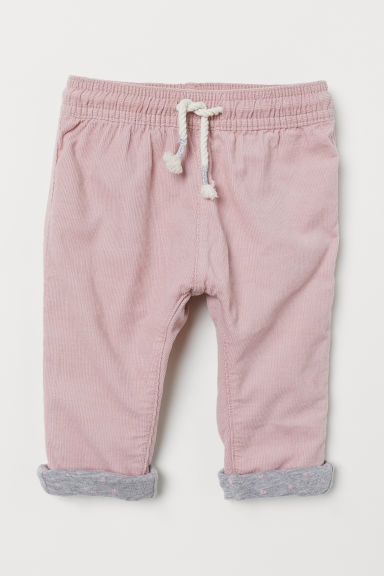 Lined corduroy trousers - Light pink - Kids | H&M