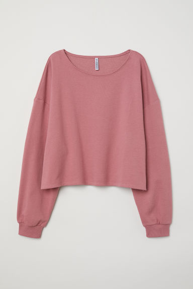 Sweat court - Rose poudré -  | H&M FR