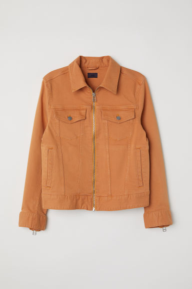 Denim jacket - Orange - Men | H&M