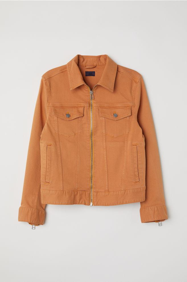 6624e9670654 Jeansjacka - Orange - HERR | H&M ...