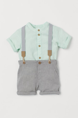 2-piece Set with Suspenders