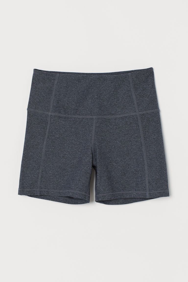 Short sports tights - Grey marl - Ladies | H&M