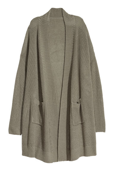 Knitted cardigan - Khaki green -  | H&M