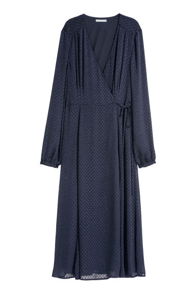 Wrap dress - Dark blue -  | H&M