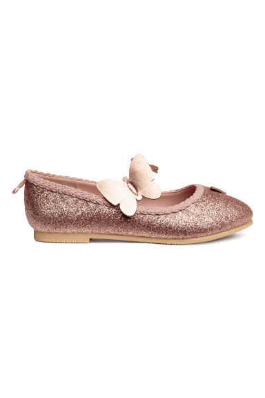 Ballet pumps - Powder pink/Glitter - Kids | H&M CN